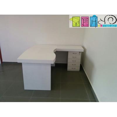 שולחן גל לבן
