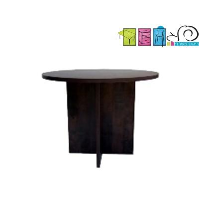 שולחן עגול רגליי עץ